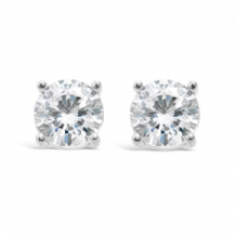 Imitation Rhodium Plated Earrings and Cubic Zirconia Stones